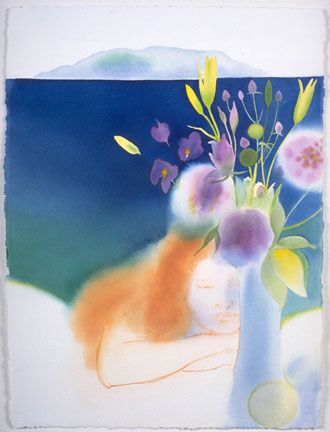 Woman with Summer Flowers - Elizabeth Osborne