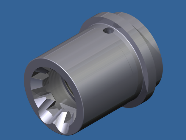 Ar15  223 barrel extention - Autodesk Inventor, STL for 3D