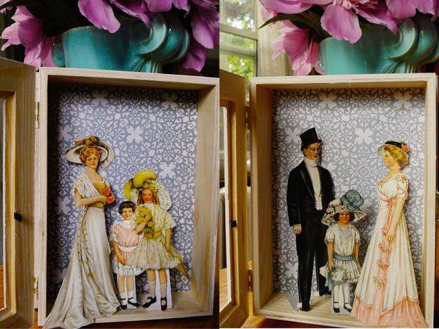 Delightful vintage dress wall decor