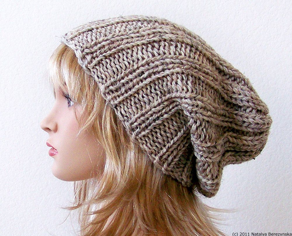 Knit Hat Women Knit Hat Mens Slouchy Beanie Hat Mens Slouchy Hat ...