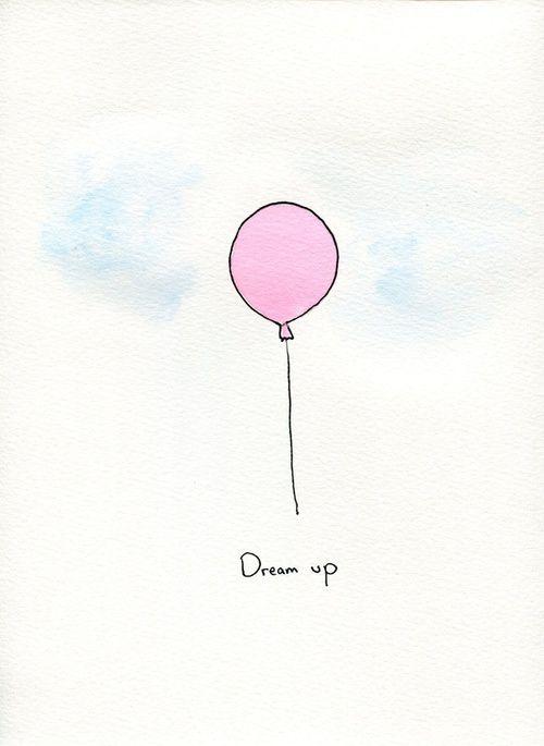 Dreamer Balloon Painting Paintings Tumblr Balloon Illustration