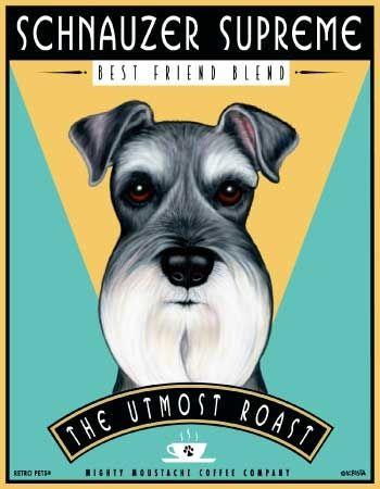 Schnauzer Dog Art Print Made In Usa Schnauzer Supreme Best
