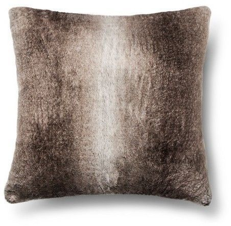 Fieldcrest Faux Fur Euro Pillow Brown Fieldcrest Products Extraordinary Fieldcrest Decorative Pillows
