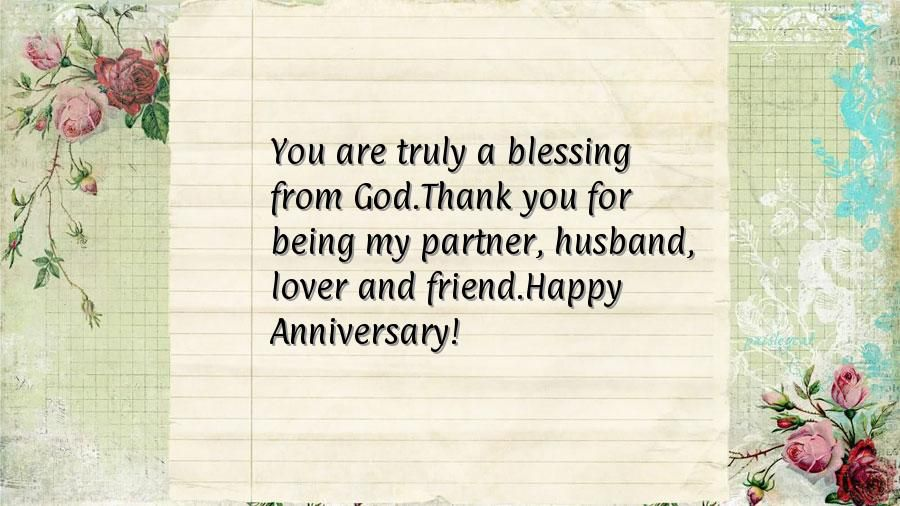 happy anniversary message to him