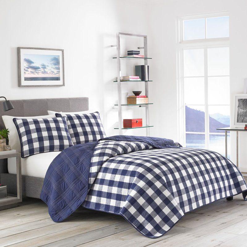 Lake House Bedding Sets.Lake House Reversible Quilt Set In 2019 Lake House Plaid