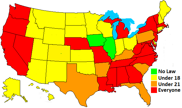 state helmet laws map | Motorcycle, Motorcycle travel ...