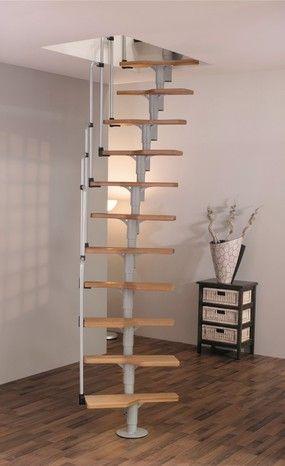 escalier modulaire acier bouleau l