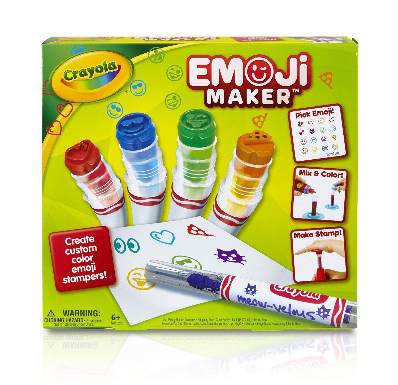 Amazon Crayola Emoji Maker Marker Stamper Maker Art Activity