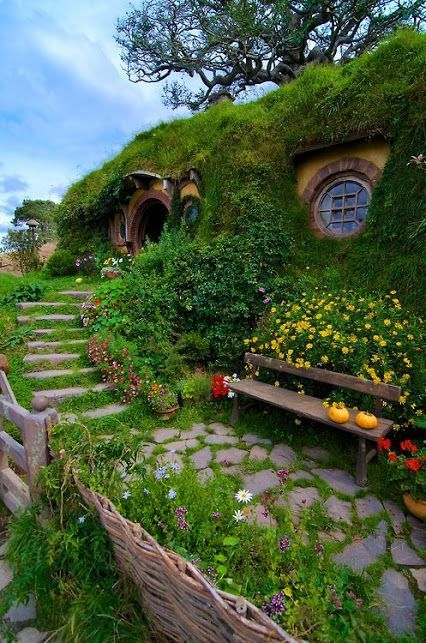 Hobbit Houses Shire Tolkien New Zealand Beach Travel