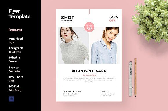 Fashion and Clothing Flyer Template by anabellahope on