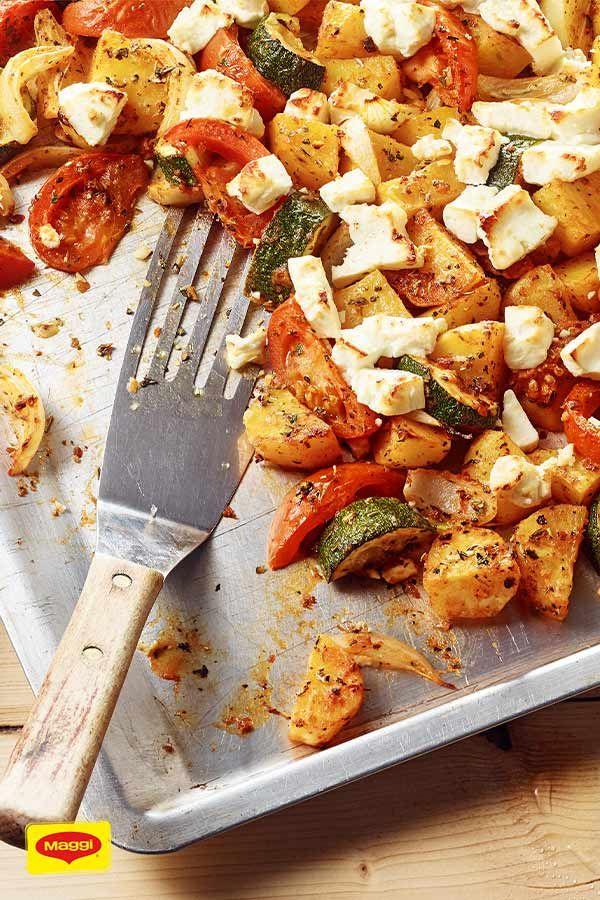 Mediterrane Kartoffeln mit Feta #vegetarischerezepteschnell