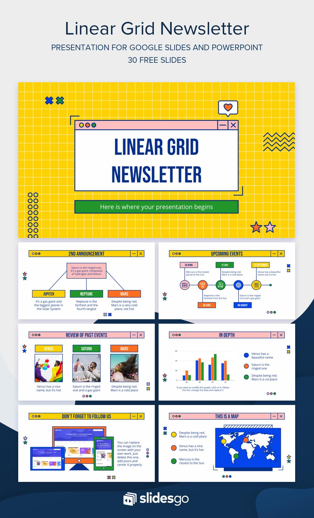 Program Linear Ppt : program, linear, Eye-catching, Newsletter, Design, Inform, Employees., Editable, Google, Slid…, Powerpoint, Templates,