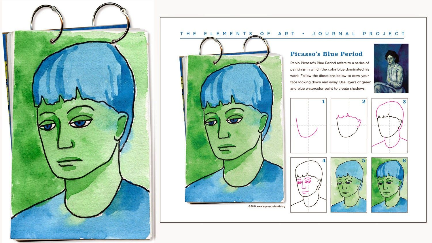 Art Projects For Kids Picasso Journal Page Draw Your