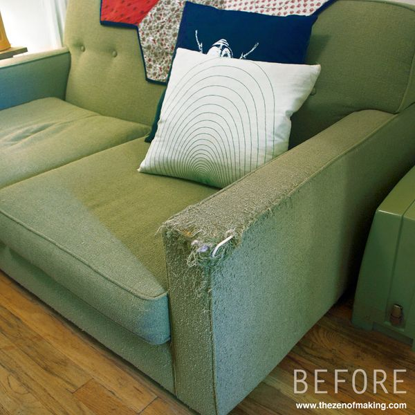 Tutorial Simple Fabric Armrest Covers The Zen Of Making Couch