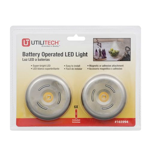 Zoomed Sylvania 2 Pack Battery Cabinet Led Puck Light Kit