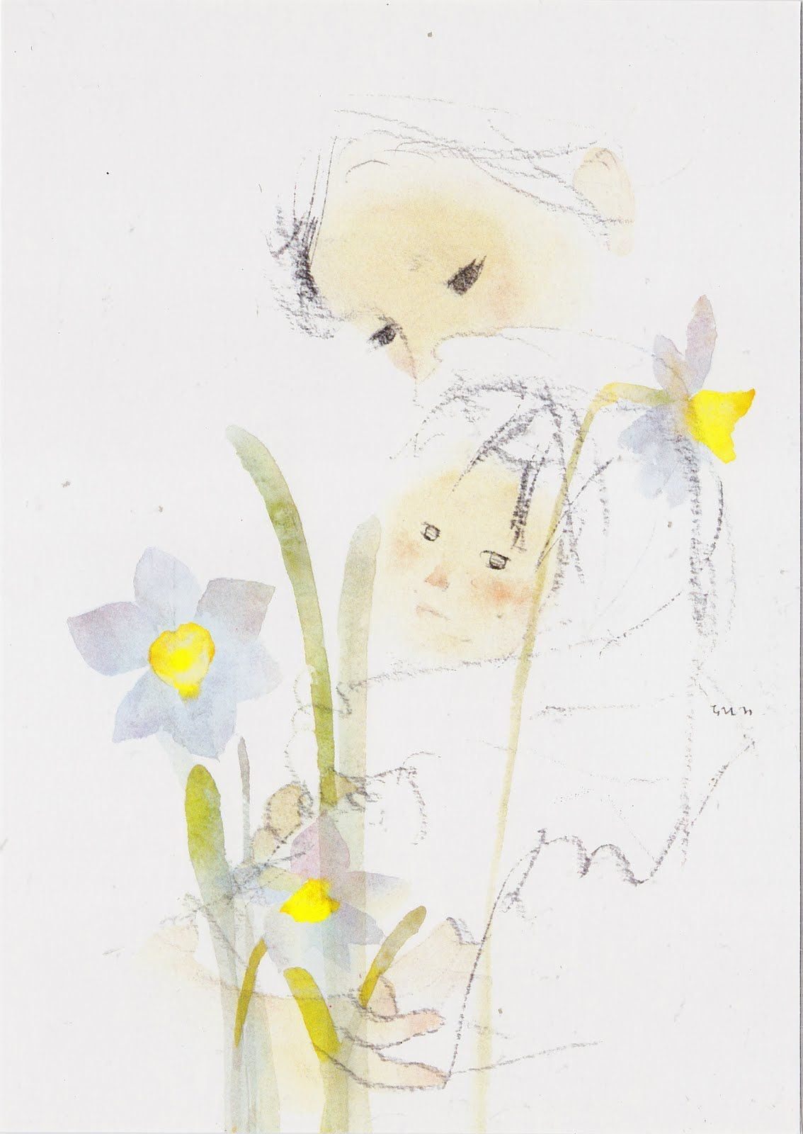 Chihiro Iwasaki Mother Like A Spring いわさきちひろ イラスト