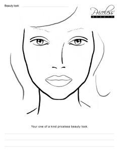Blank face chart temples male and female  had  horrible cold still have if also mac charts printable makeup pinterest rh