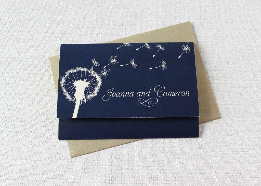 Dandelion Dreams Concertina Wedding Invitations. Blue Wedding  InvitationsWedding StationeryNavy ...