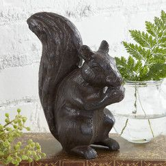 Rustic Squirrel Decor
