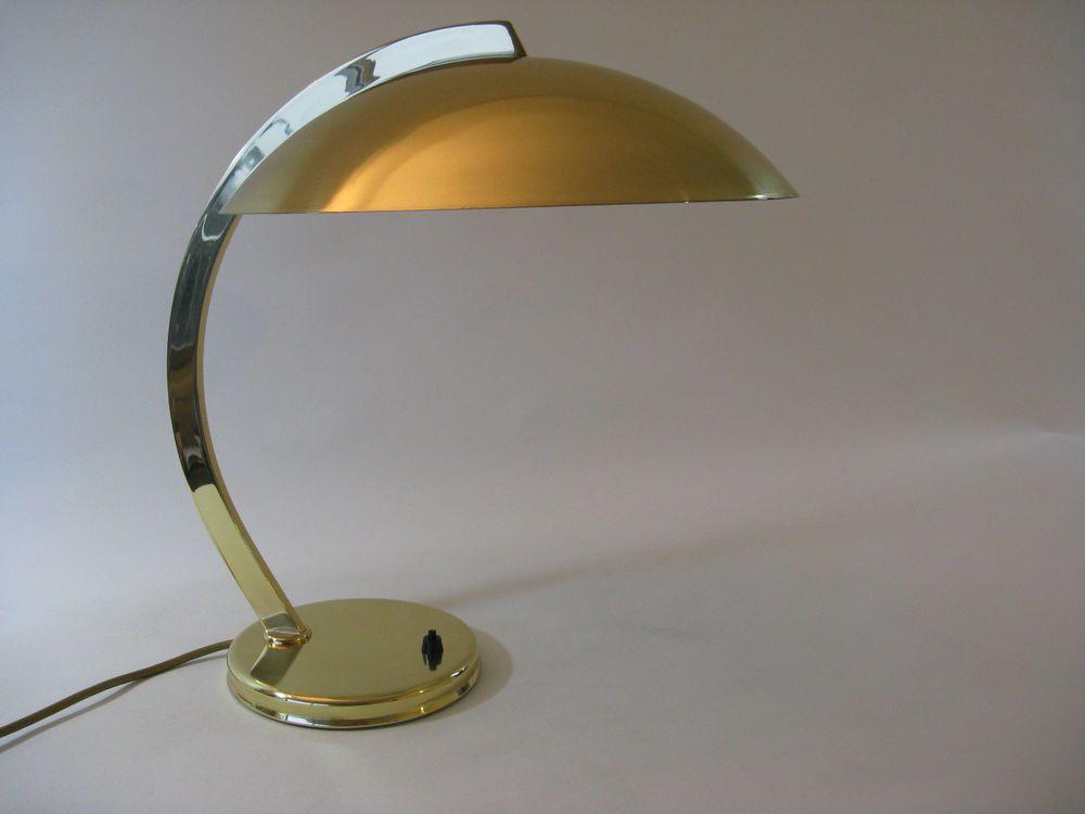 Desk Lamp HILLEBRAND Bauhaus Table Light Brass Mid Century Vintage ...