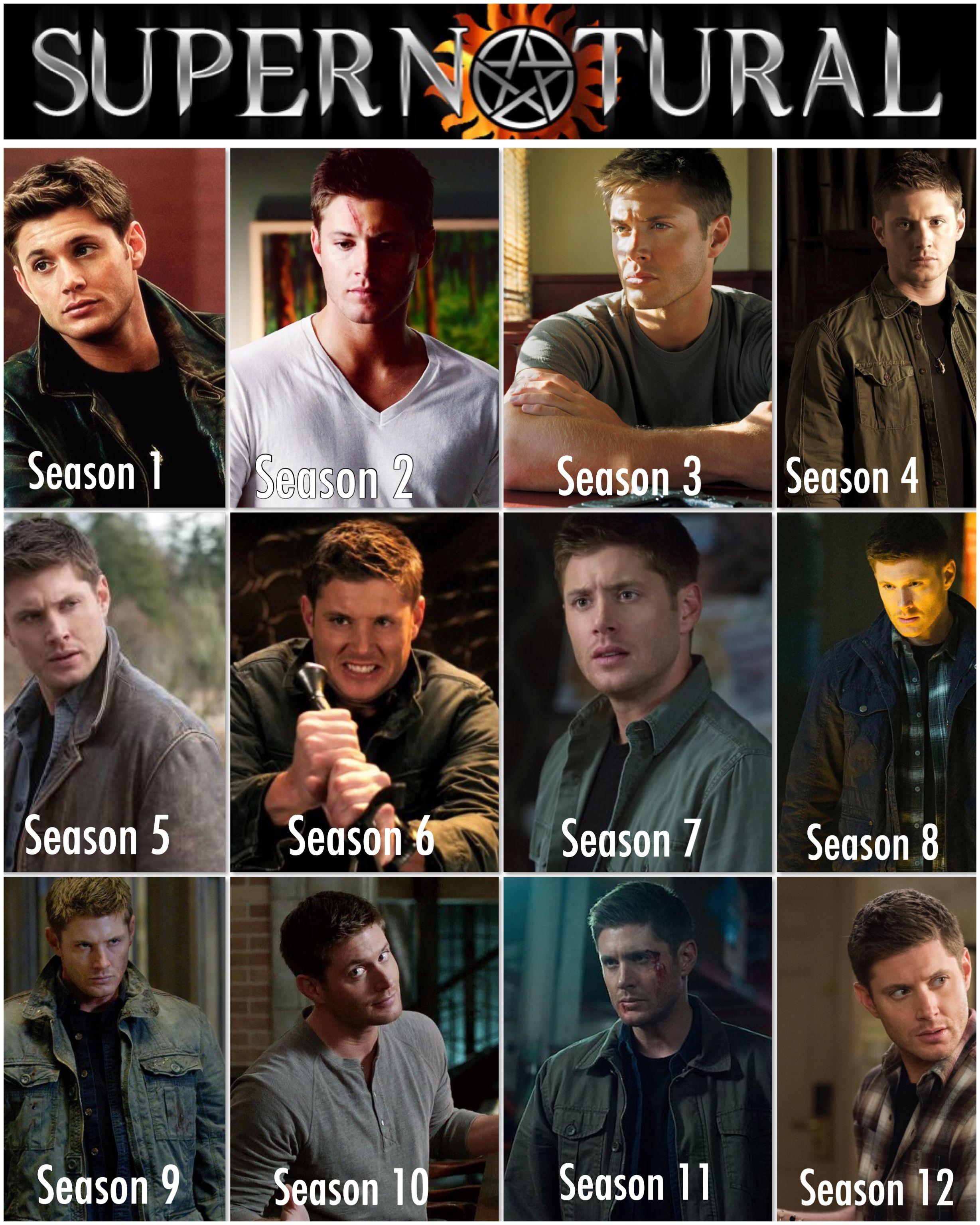 Dean Evolution ️😍 Supernatural sam, Tv supernatural