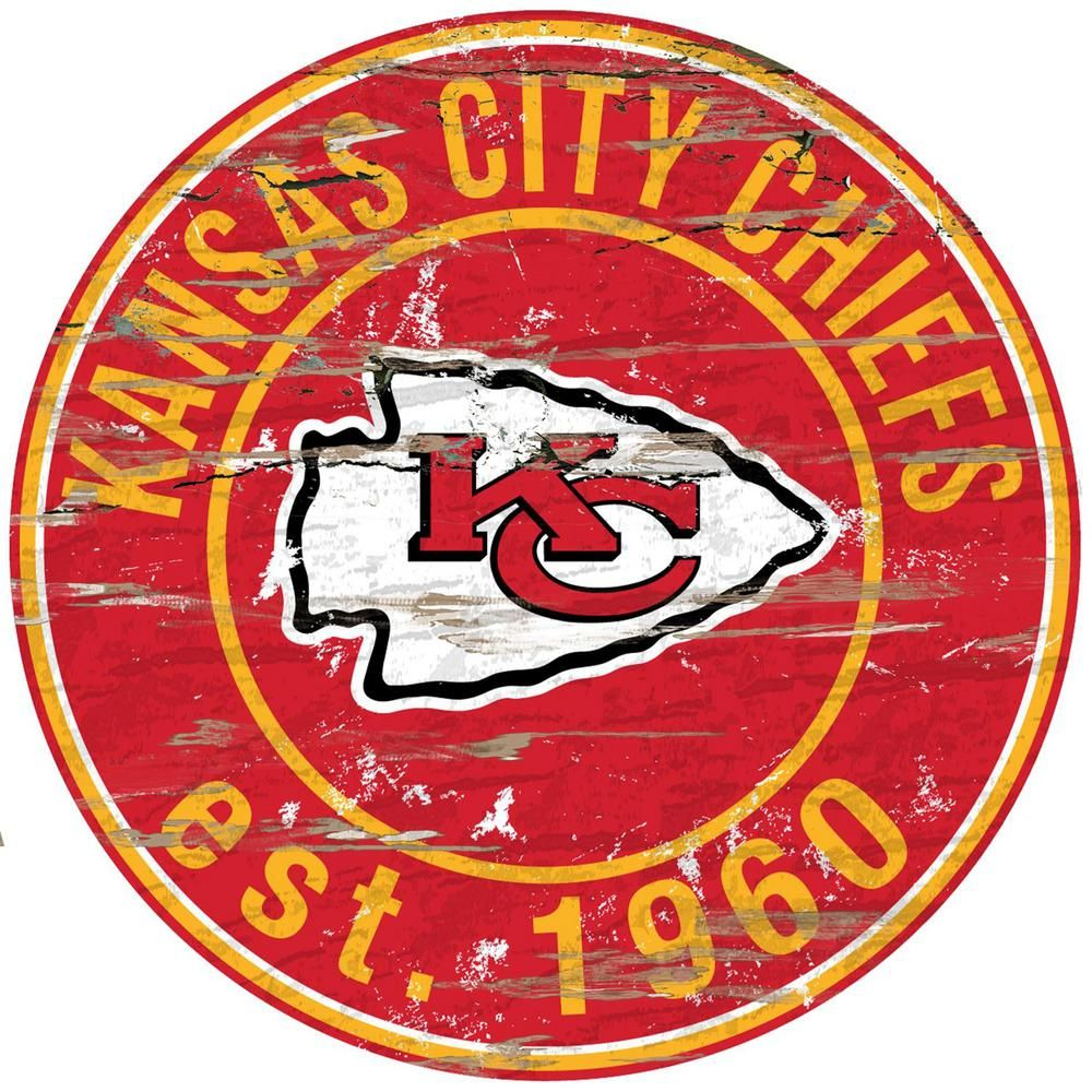 """Adventure Furniture 24"""" NFL Kansas City Chiefs Round"""