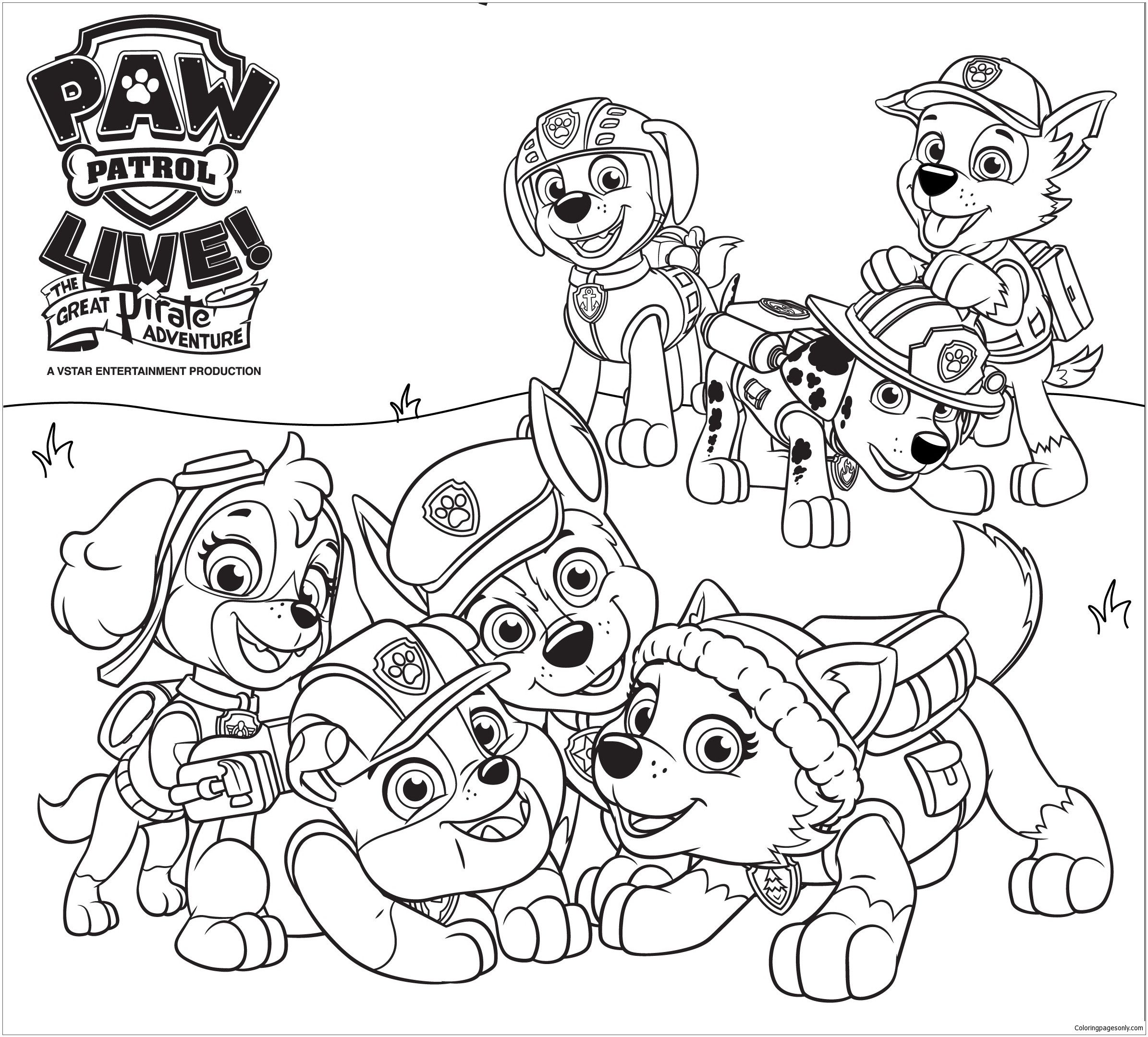 Coloriage Mighty Pups Skye | Coloriage Reimansa
