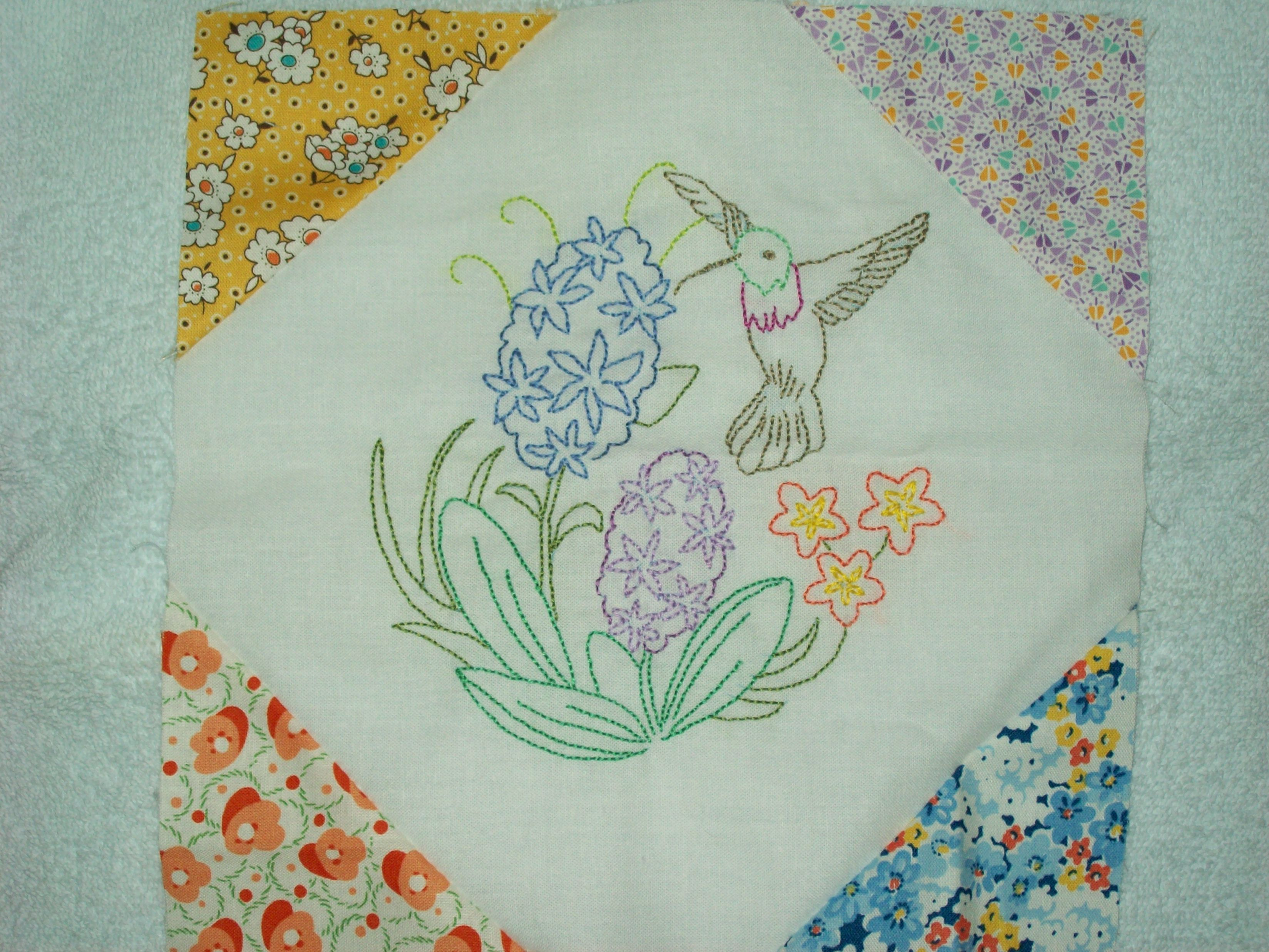 Embroidered Quilts & Blocks on Pinterest Embroidered Quilts, Crib Quilts and Baby Quilts