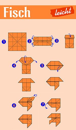 Origami Fische Anleitung