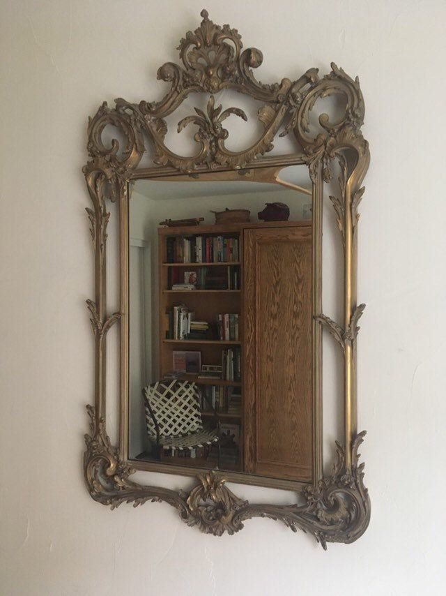 Antique 19th Century Carved Wood Framed Mirror | Wood ...