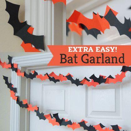 DIY Bat Garland Halloween Pinterest Garlands, Bats and Paper bat