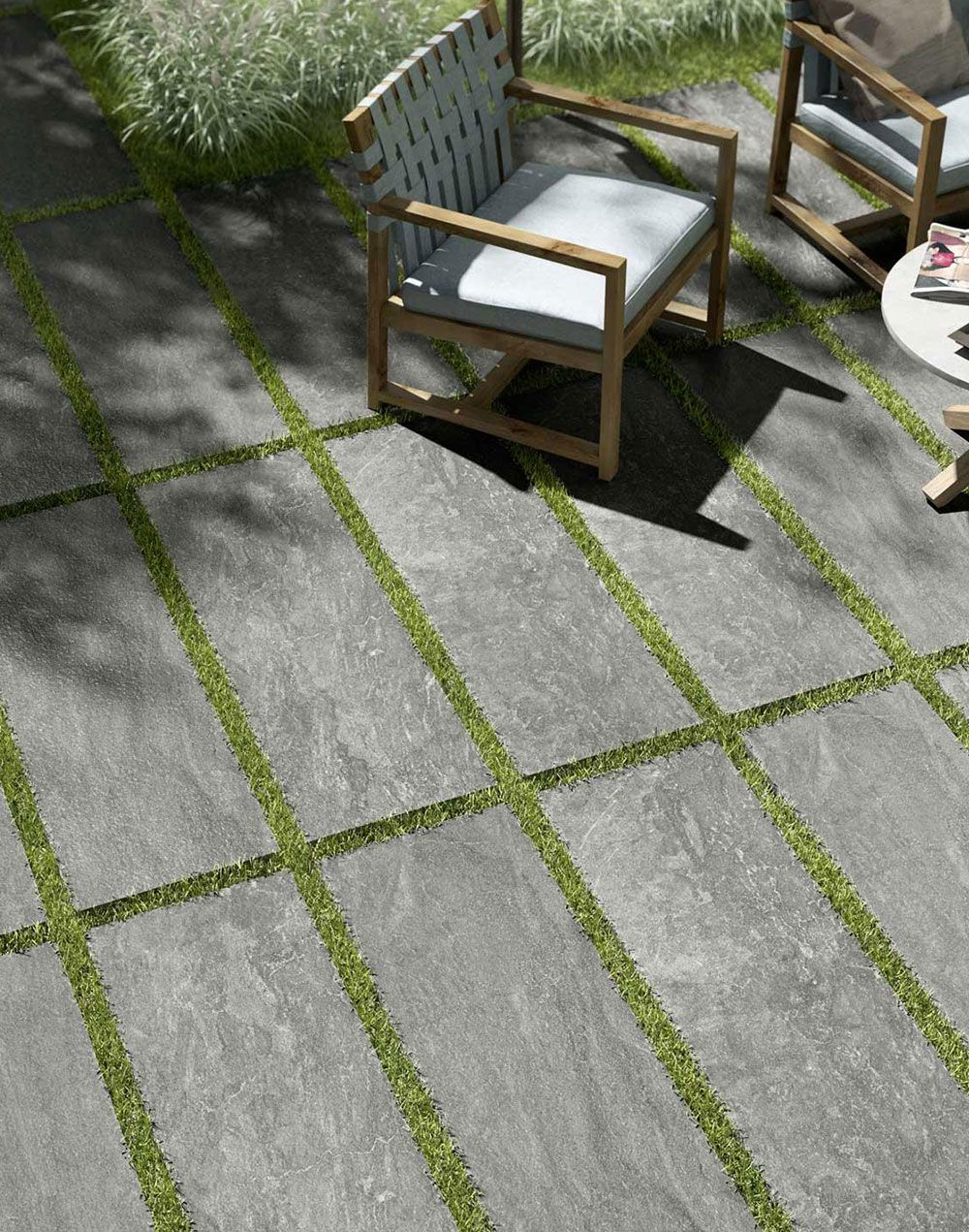 Lose Verlegung Von 2cm Terrassenplatten Schotterrasen Gartengestaltung Ideen Terrassenplatten