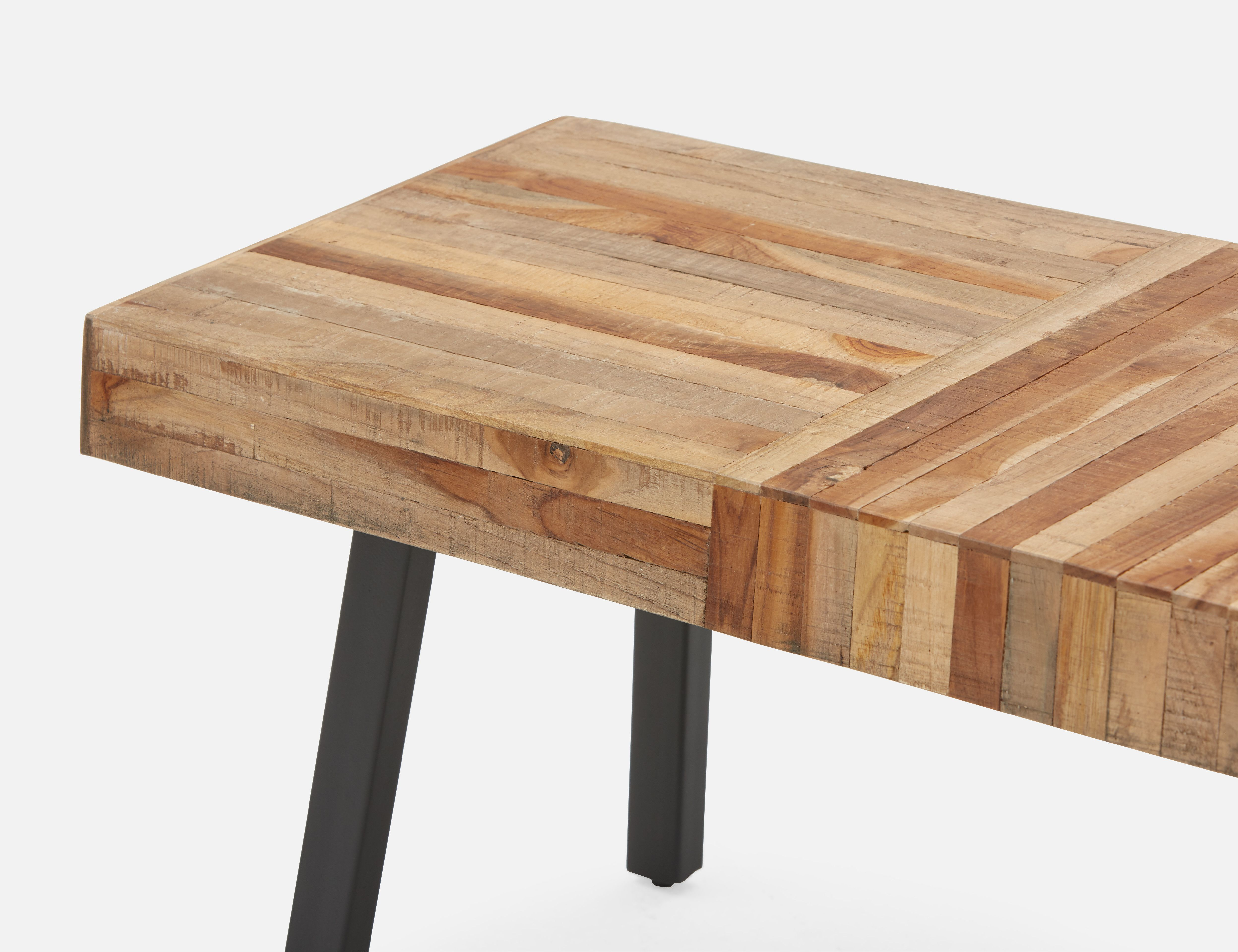 ZAK Natural recycled teak bench | Structube (With images ...