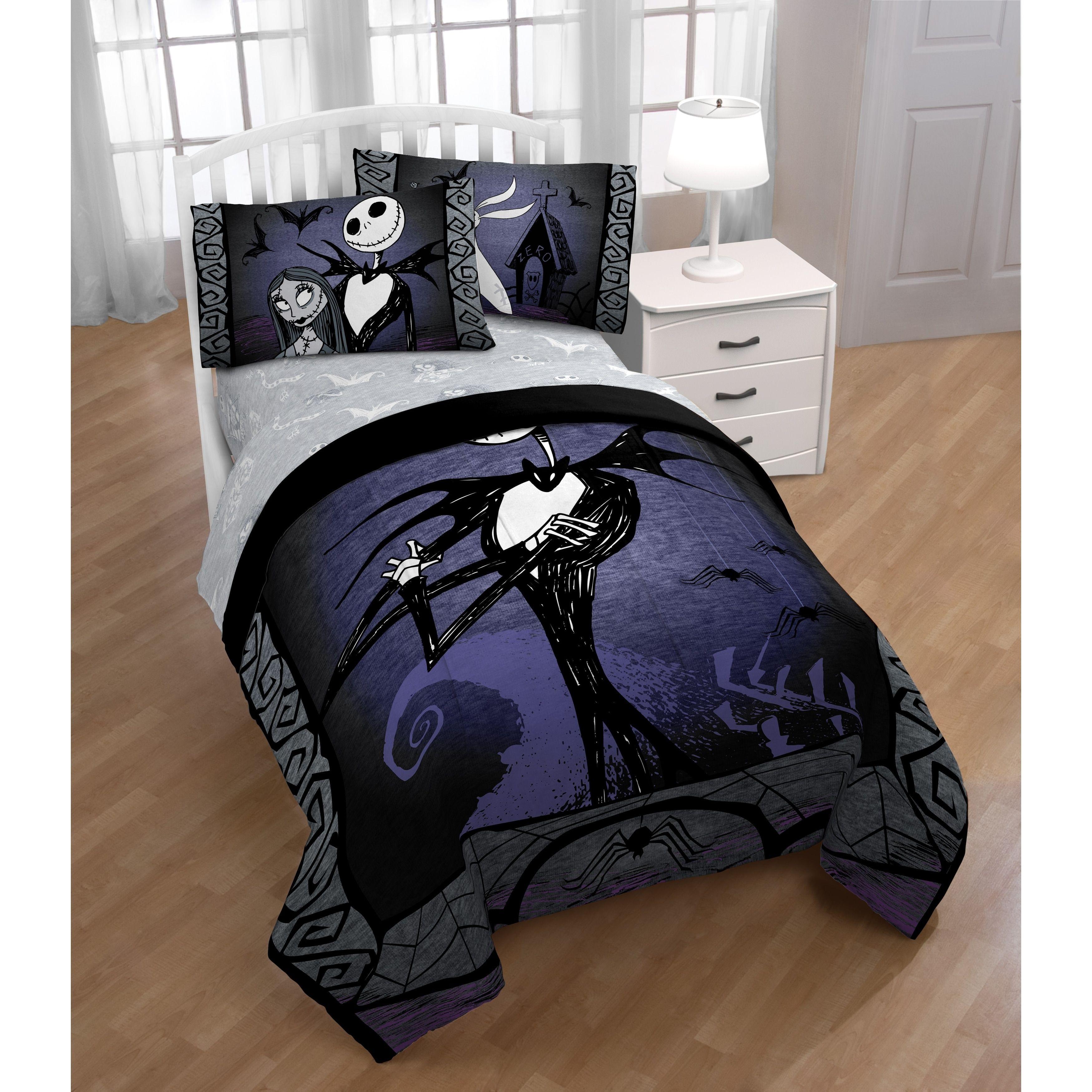 Disney Nightmare Before Christmas Meant To Be Reversible Comforter Nightmare Before Christmas Bedding Nightmare Before Christmas Christmas Decorations Bedroom