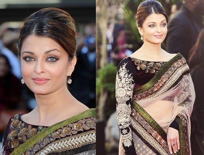 Trendy Hairstyles For Indian Wear Get Inspired From Bollywood Celebrities Side Partitioned Puff Bun Hairstyl Indisches Haar Indische Frisuren Haar Styling