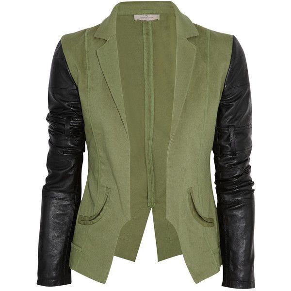 Preen Line Contrast stretch-cotton blazer ($420) ❤ liked on Polyvore