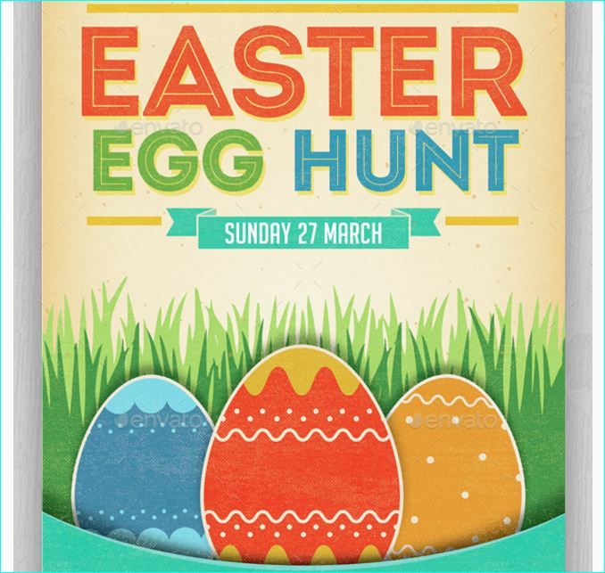Easter Egg Hunt Flyer - Party Flyer Templates For Clubs Business