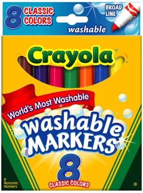 graphic relating to Crayola Coupons Printable named $1 off any Crayola Washable Markers Printable Discount codes My