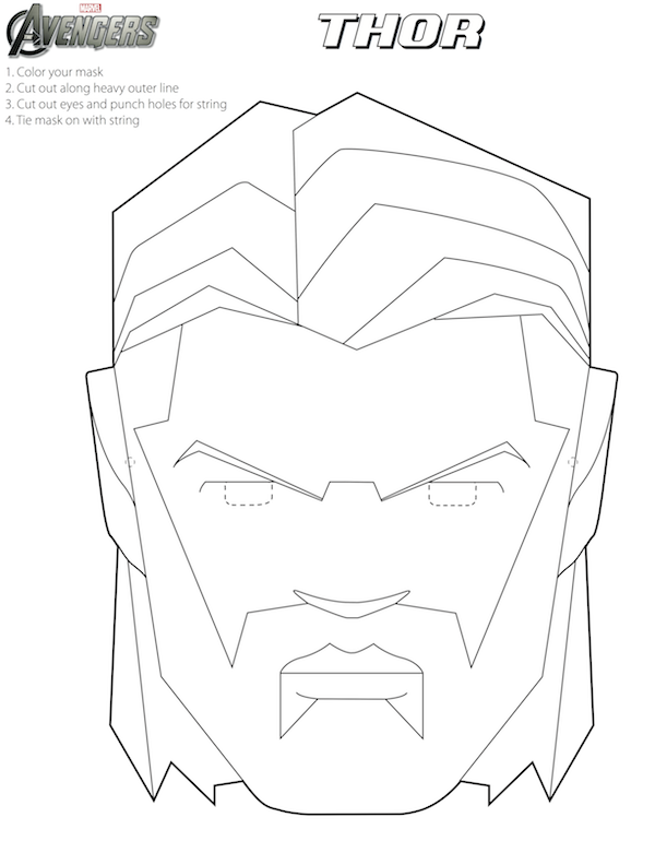 Printable halloween masks printable masks masking and for Avengers mask template