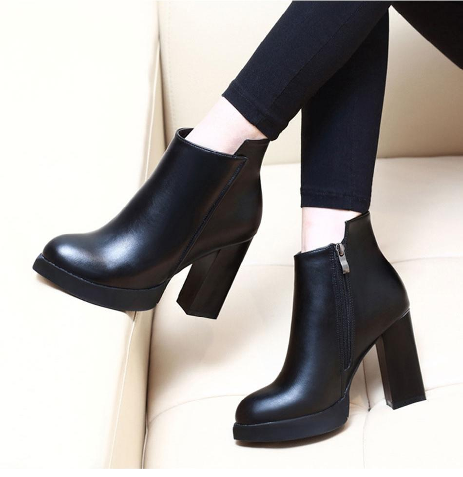 ed9b8b5c8a3 Smart Ankle Martin Style Soft Leather High Heels Boots in 2019 ...