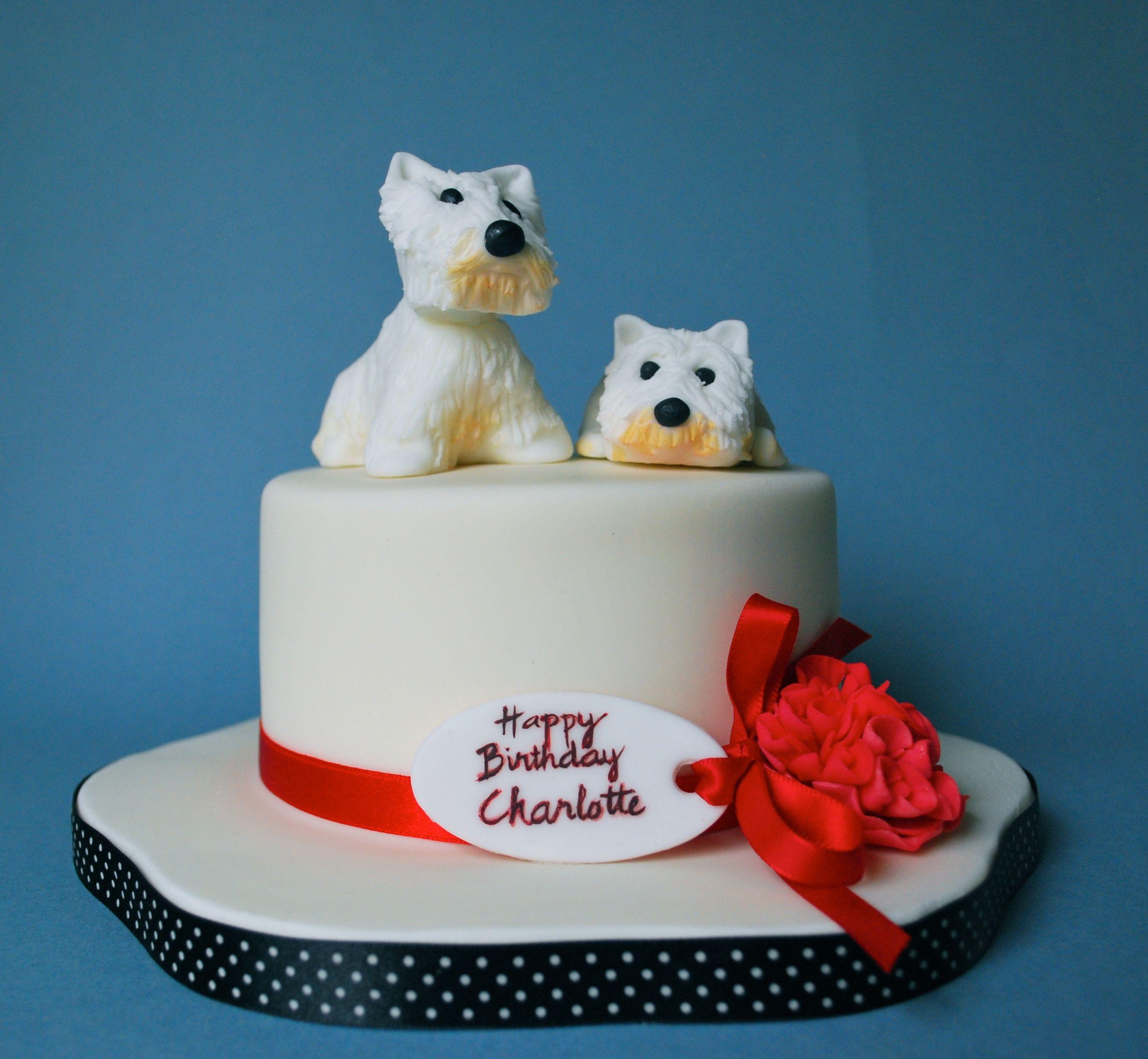 Outstanding West Highland Terrier Dog Birthday Cake With Images Dog Personalised Birthday Cards Xaembasilily Jamesorg