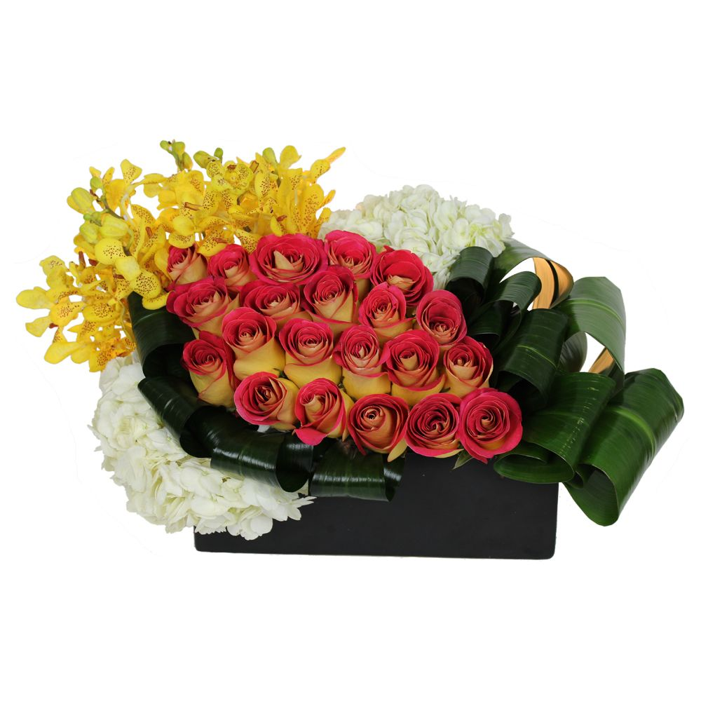 Af1506 modern flower arrangements hotel flowers rose