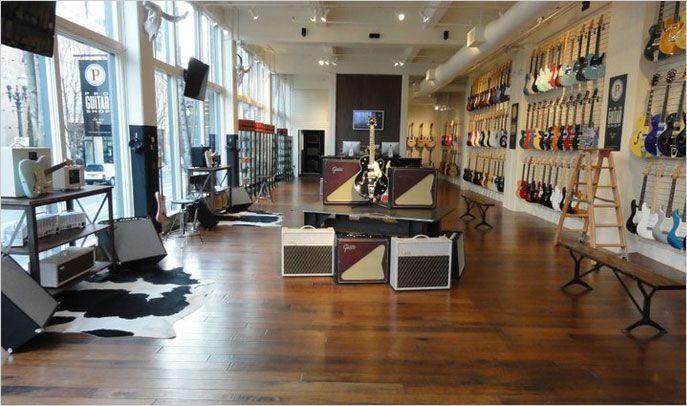 pro guitar shop in Portland, OR …   Guitar art in 2019…