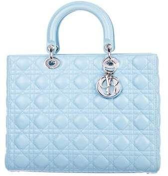 Christian Dior Large Lady Dior Bag w  Strap. add dior style  f864d84253627