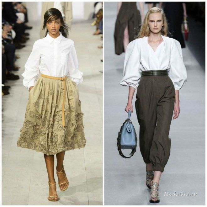 стиль юбка и рубашка