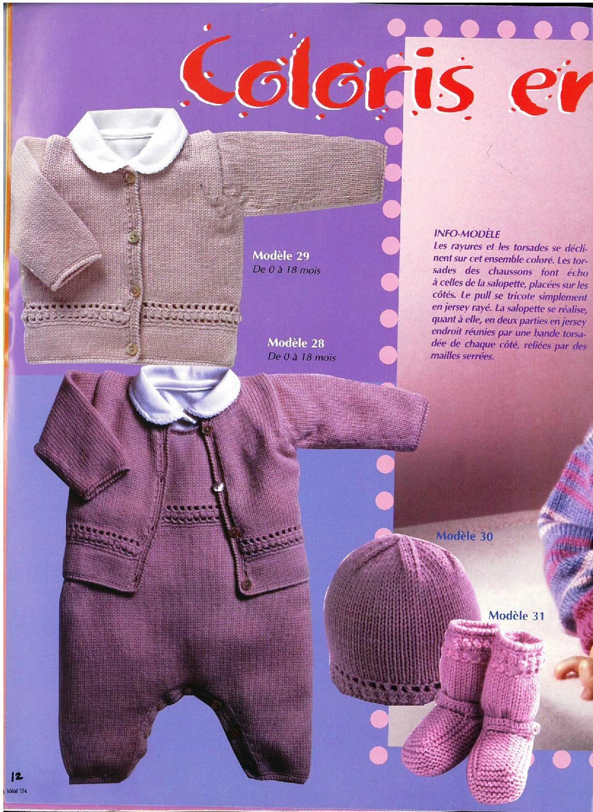 Albums archivés   revues tricots   Pinterest   Tricot, Tricot bébé ... a9cedc7a7cf