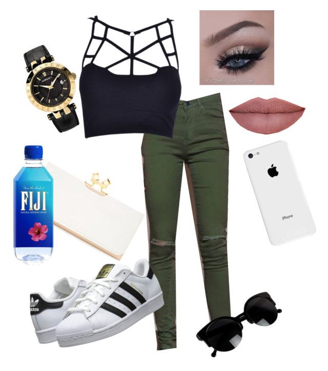 """"" by qqueeen on Polyvore featuring interior, interiors, interior design, home, home decor, interior decorating, adidas Originals, Versace, Ted Baker and Apple"
