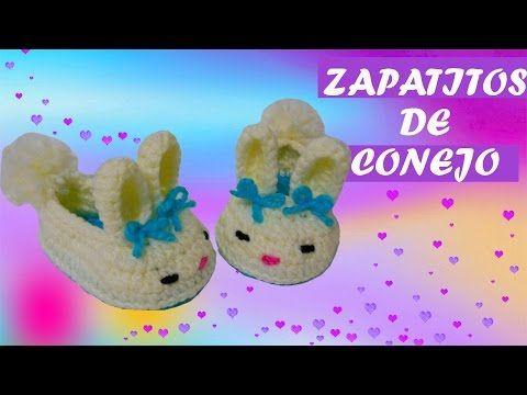 Zapatos de conejo tejidos a crochet   PASO A PASO - YouTube ...