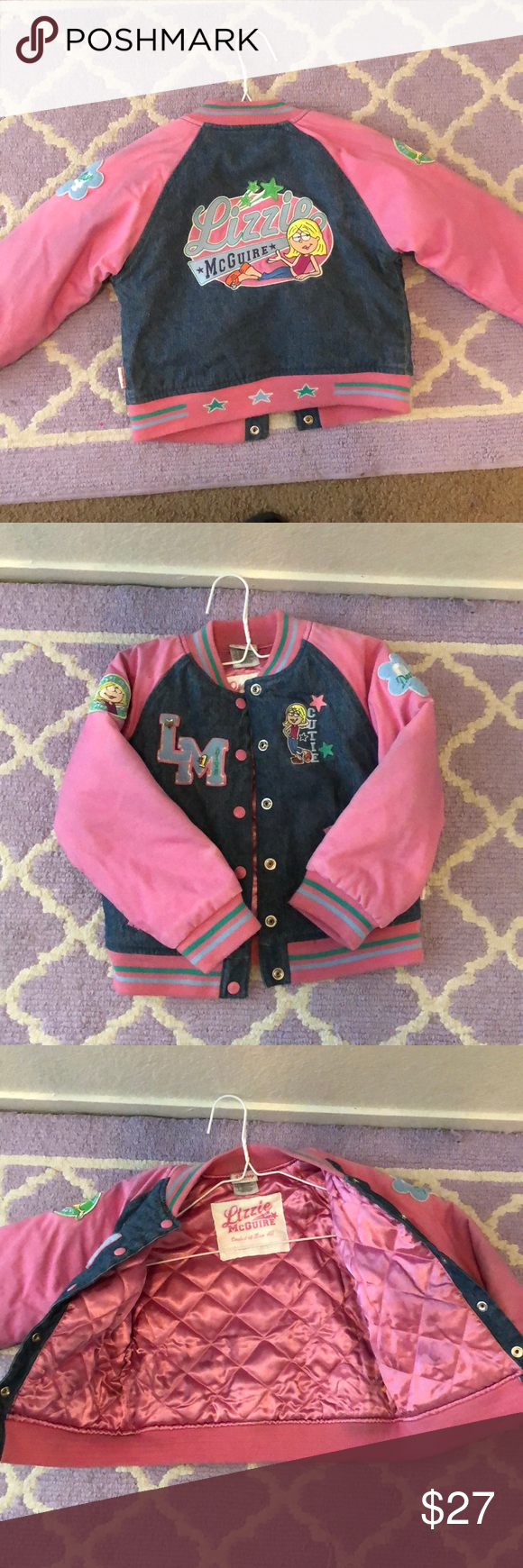 Lizzie McGuire Varsity jacket Pink and denim Disney Jackets & Coats Puffers #lizziemcguire Lizzie McGuire Varsity jacket Pink and denim Disney Jackets & Coats Puffers #lizziemcguire
