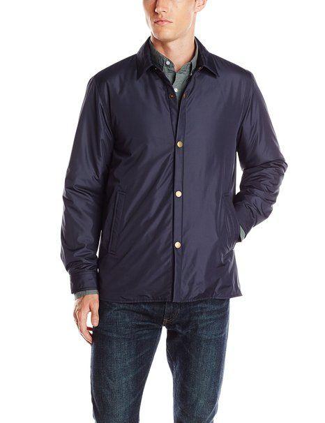 Steven Alan Men's Nylon Weather Shirt, Navy, X-Small